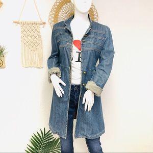 Vintage   Mark Jacobs Denim Duster Trench Coat
